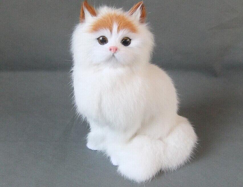 Nueva simulación gato polietileno y pieles gato blanco modelo de ...
