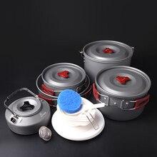 Fire Maple Cookware Set 6-7 Persons Team Pot Sets (Frying Pan+Cauldron+Medium Pot+Pannikin+Tea Pot) Camping Tablewares FMC-212