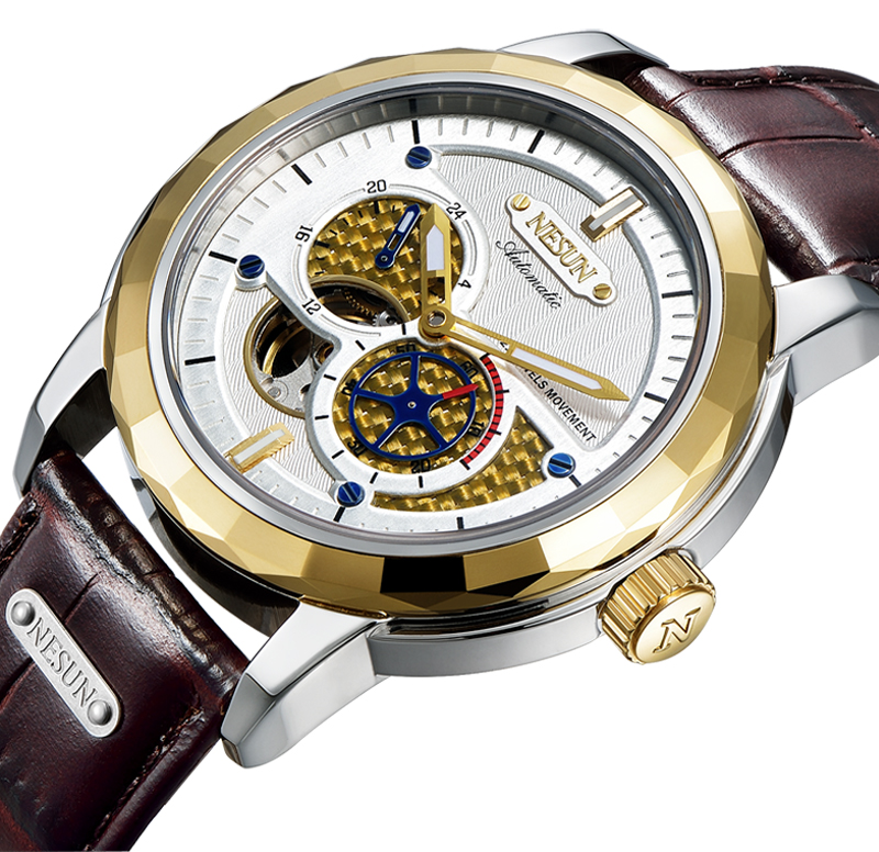все цены на Switzerland Luxury Brand NESUN Skeleton Tourbillon Watch Men Auto Self-Wind Men's Watches 100M Waterproof Sport clock N9810-2 онлайн