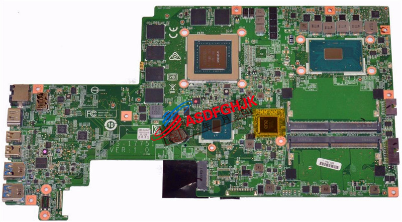 Original FOR <font><b>MSI</b></font> <font><b>GS72</b></font> GS70 6QE-042US Laptop Motherboard WITH i7-6700HQ 2.6GHz CPU MS-17751 MS-1775 fully tested image