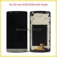 10ピース液晶ディスプレイとタッチスクリーンデジタイザ国会lg g3ミニd722 d724黒ホワイトゴールドdhl