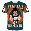 Harajuku classic cartoon dragon ball t shirt super saiyan armour 3d t shirt men anime goku vegeta t shirts DBZ tees summer tops