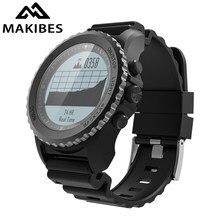 Makibes G07 GPS Mens Multisport Smart Watch Bluetooth IP68 Waterproof Snorkeling Dynamic Heart Rate GPS Tracker Smartwatch
