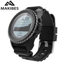 Makibes G07 GPS Multisport גברים חכם שעון Bluetooth IP68 עמיד למים שנורקל דינמי קצב לב GPS Tracker Smartwatch