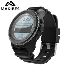 Makibes G07 GPS erkek Multisport akıllı Bluetooth saat IP68 su geçirmez dalış dinamik kalp hızı GPS Tracker Smartwatch