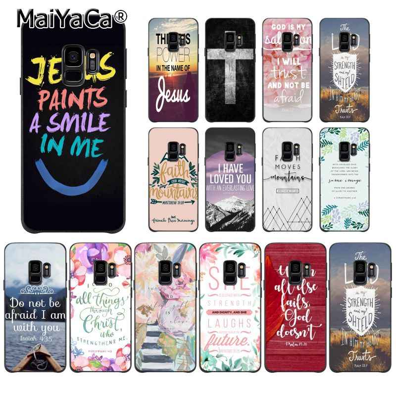 MaiYaCa Bible verse Philippians Jesus Christ Christian Flower PhoneCase for Samsung Galaxy S7edge S6 edge plus S10 S8 S7 S9 Plus