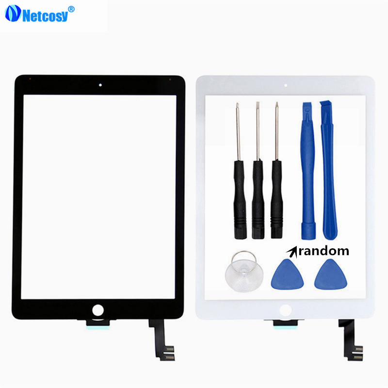 все цены на Netcosy For ipad 6 Tablet Touch panel For ipad Air 2 A1567 A1566 Touch screen digitizer without home button & Tools онлайн
