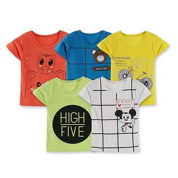 Boys T Shirts Summer 2018 Boy Short Sleeve T Shirt Cartoon Little Girls Tops Summer Boy T Shirt O-neck Cotton Toddler T Shirts Boys T Shirts