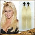 Top qualidade Virgin hetero trama do cabelo para trança 100% brasileira virgem Ombre Hair Extension 3 Pcs por atacado 1B 613 Ombre loira
