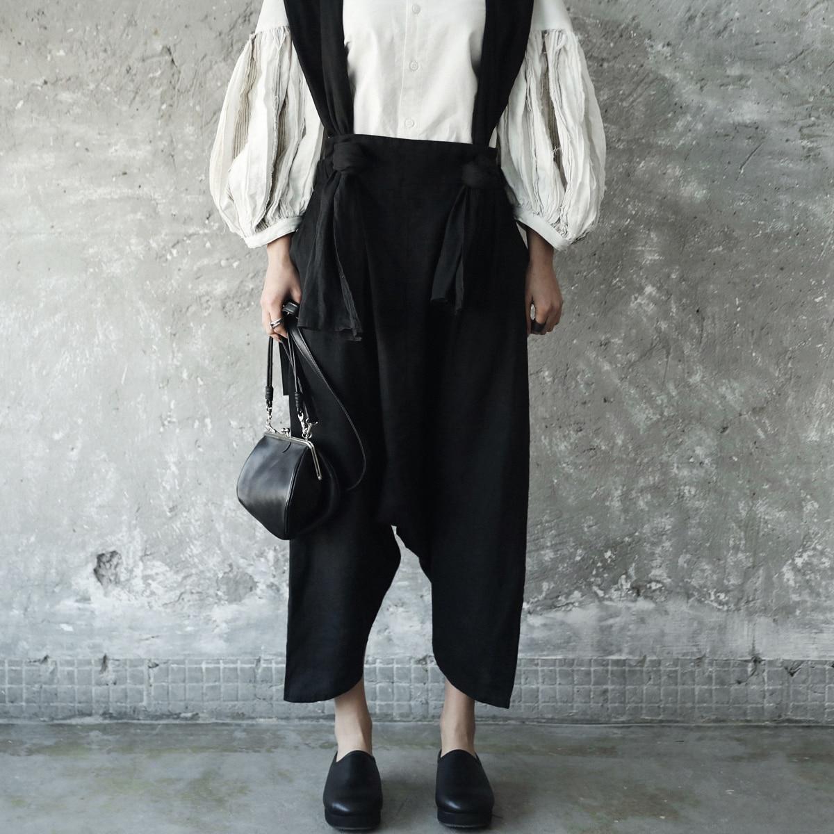 Femmes Et Cheville Couleur Lâche Été Mode Pantalons Casual Salopette Nouvelle Pantalon longueur Black Coton En Solide 2018 Sauvage Superaen Printemps IPgBwx