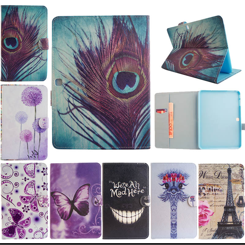 2015 Cases for Samsung Galaxy Tab 4 10.1 SM T530 T531 T535 Tablet Fashion Tree tower Painted Flip PU Leather Case Cover S5555D аксессуар чехол samsung galaxy tab a 7 sm t285 sm t280 it baggage мультистенд black itssgta74 1