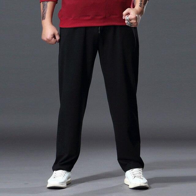 Mode grande taille pantalons de survêtement hommes droit décontracté noir bleu gris Sport pantalon grande taille 5XL 6XL 7XL hommes pantalons longs
