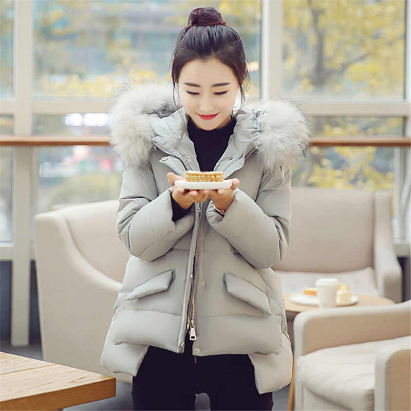 Casual Thicken Cotton Jacket Female 2018 New Autumn Winter Korean Down Jacket Fur Collar Short Cloak Chic Coat For Women A1633