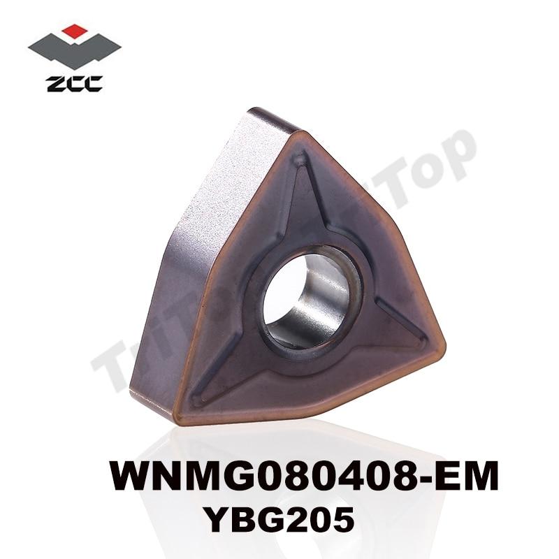 ENVÍO GRATIS WNMG 080408 -EM YBG205 zcc.ct Insertos WNMG432 10PCS / LOTE PARA MECANIZADO DE ACERO INOXIDABLE SEMI-ACABADO