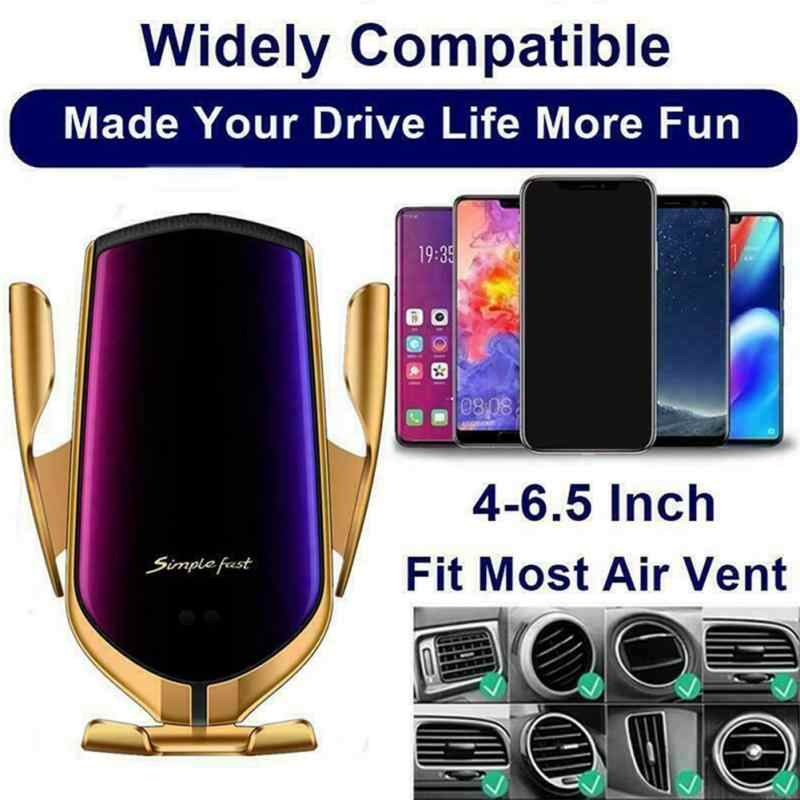 "Qi wireless standard Car Wireless Charger Fast Wirless Charging Car Phone Mount Holder For 3.5""-6.5"" cell Mobile phone"