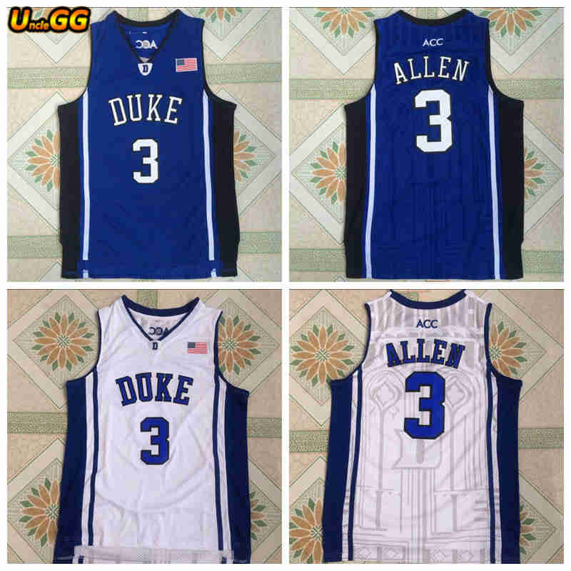 Uncle GG Mens  3 Grayson Allen Jersey College Cheap Throwback Basketball  Jersey Retro Embroidered Basketball Shirts Vest For Men 2407207a4
