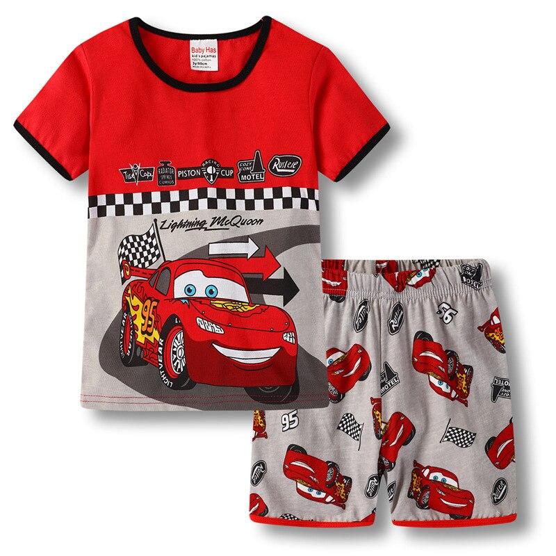 2018 одежда для маленьких мальчиков тела мобилизации автомобиль Костюм Пижама качество 100% хлопок детская футболка летние Одежда для детей с ...