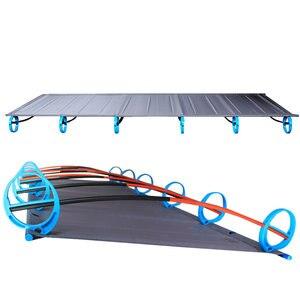 Image 2 - سرير قابل للطي جديد من سبائك الألومنيوم فائق الخفة 1.6 كجم BRS سرير قابل للنقل للتخييم في الهواء الطلق