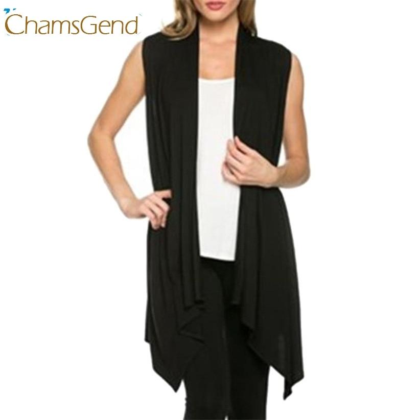 ז 'קט Chamsgend עיצוב חדש נשים סוודר קליל סרוגה ארוך פתוח בחזית ללא שרוולים סוודרים מעיל אואט חולצות יולי 22
