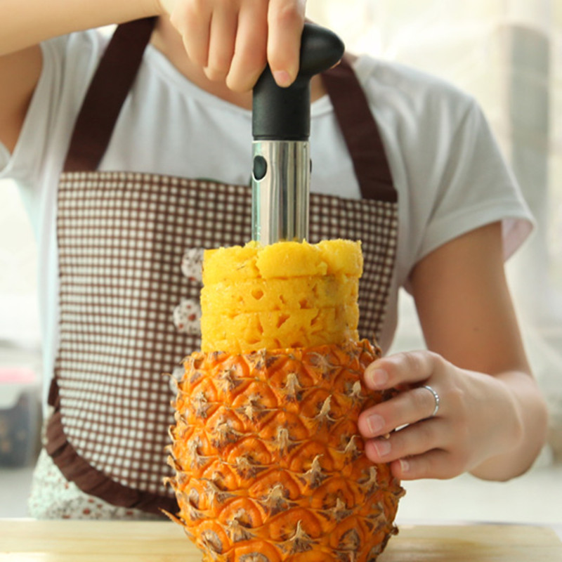 ZIDUKE kitchen creative stainless steel 304 utensil gadget easy and efficient pineapple corer slicer peeler BC415