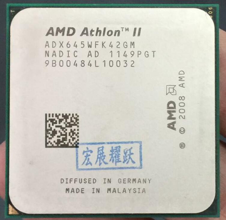 AMD Athlon II X4 645  X645 Quad-Core AM3 938 CPU 100% Working Properly Desktop Processor