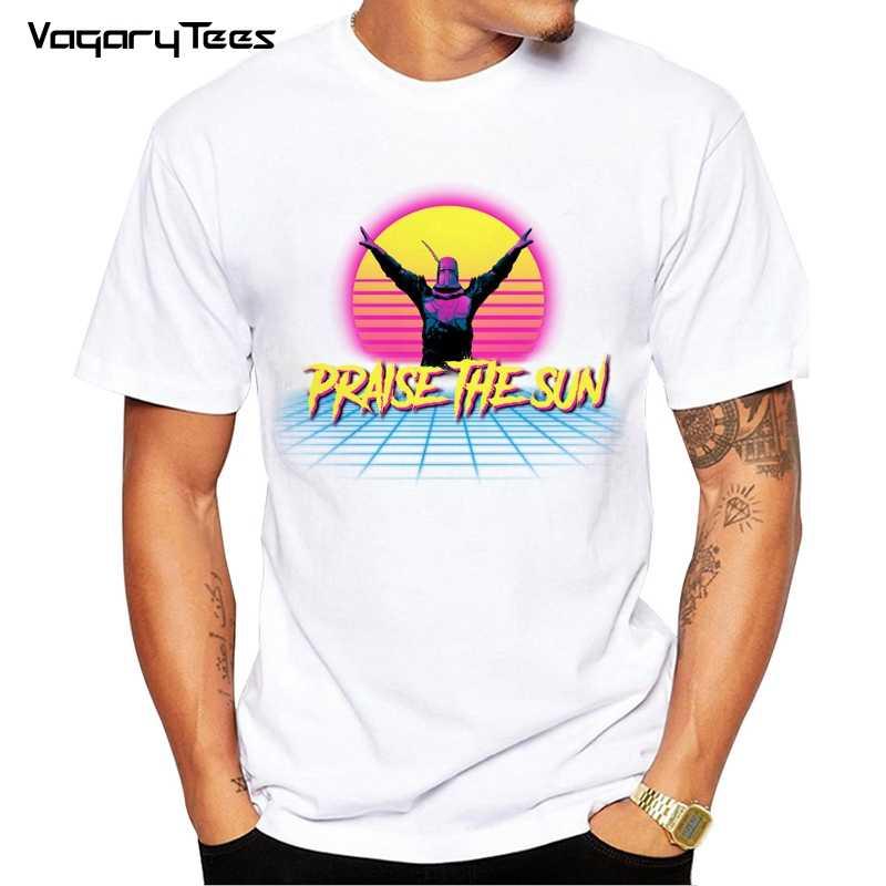 Desain Unik Super Gelap Jiwa Gereja Matahari T-shirt Pujian Matahari Pemuda Leher Bulat TEE Pria Baru T SHIRT Pakaian Fashion