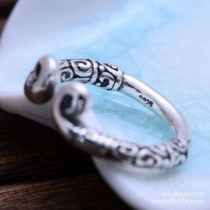 Image 5 - KJJEAXCMY fijne sieraden 925 Sterling zilveren sieraden herstellen oude manieren taiyin de heilige hoepel magic vrouwelijke stijl ring