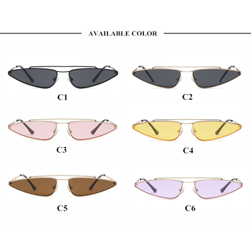 41e9abfdfc YOOSKE Vintage Small Cat Eye Glasses Women Unique Style Retro Sunglasses  Metal Fashion Catwalk Sun Glasses ...