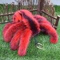 Envío libre 2017 de la moda de piel de visón importados terror réplica araña mujeres llave del coche bolsa de titular de La Novedad spider man regalo