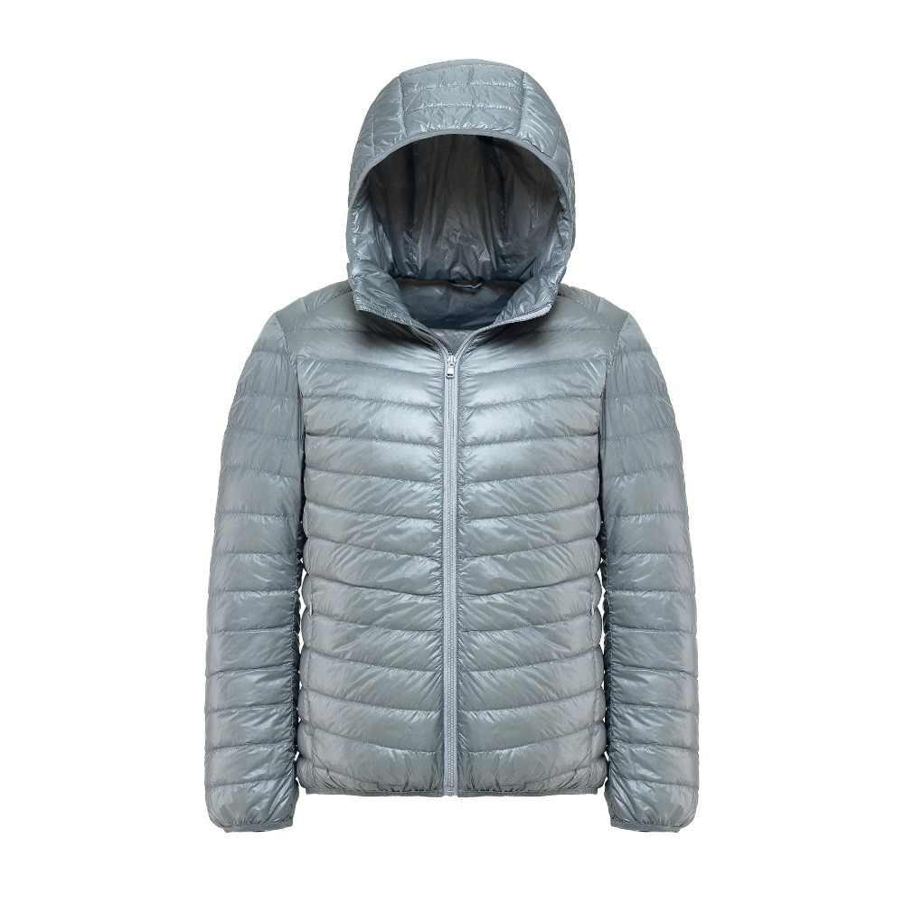 2019 겨울 자켓 남자 가을 90% 화이트 오리 겨울 코트 남자 초경량 워밍업 후드 자켓 남성 방풍 파카