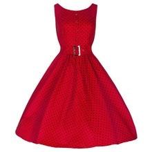 Цветущий Студня Рукавов Красный Горошек Поясом Свинг Платье однобортный Туника Свадебное Коктейль Старинные Платья