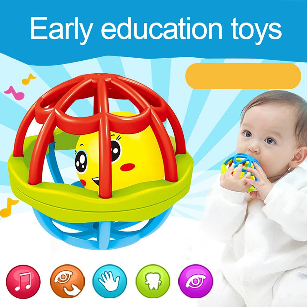 Baby Teether Rattle Toy Intelligence Grasping Gums Hand Bell Funny Hollow Gift
