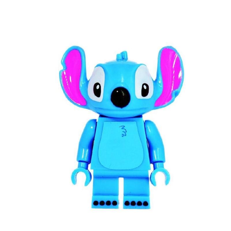 Stitch Single Sale Cartoon Cute Animal Stitch Mickey Mouse Big foot Carrot Man Building Blocks Bricks