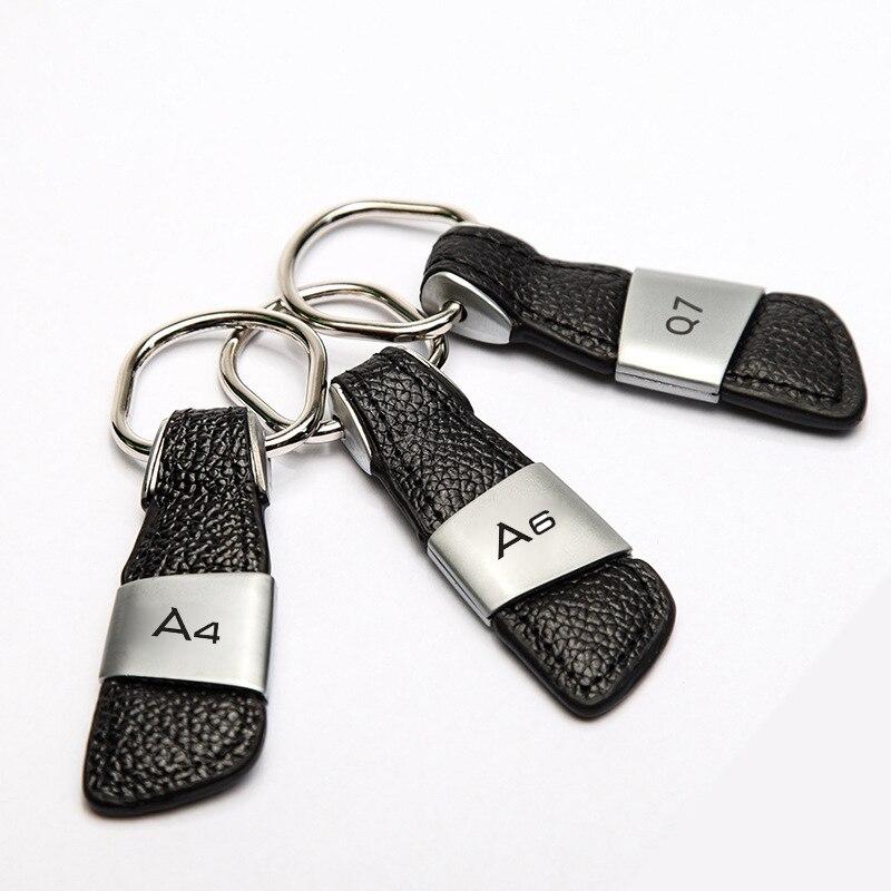 Voiture Porte-clés Porte-clés Porte-clés Pour Audi A3 A4 B6 B8 B7 B5 B9 A6 C5 C6 C7 A5 Q5 Q7 8P 8V 8L TT 80 100 Q3 A7 S3 S4 S5 S6 S line
