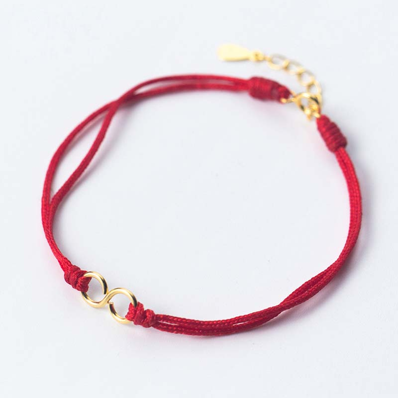 925 Sterling Silver Infinity Charm Bracelets for Women Lucky Red Rope Bracelet Adjustable Length Chain Fashion Jewelry New Gift
