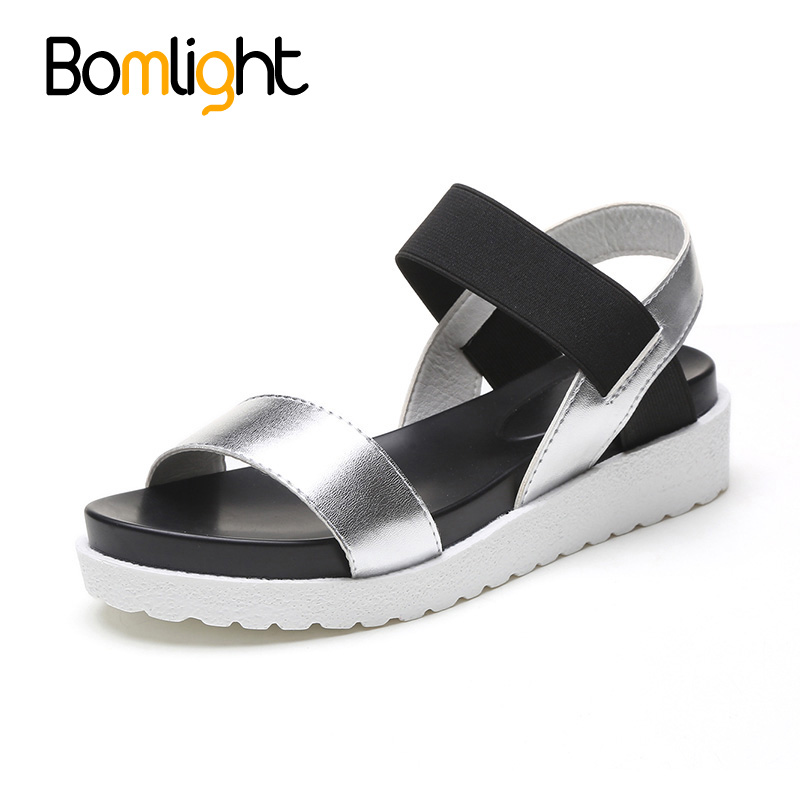 Bomlight 2018 New Gladiator Women shoes Roman sandals shoes Women sandals peep-toe flat Shoes woman sandalias mujer sandalias