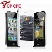 Оригинальный Iphone Factory Unlocked Iphone 4S телефон 3.5 »8MP Камеры GSM WCDMA WIFI GPS Разблокирована Сотовых телефонов добавить стекла фильм как подарок