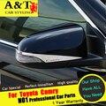 A & T Para Toyota Camry Retrovisor espejo de cromo car styling 2015 2016 Para Camry Espejo pegatinas de Coches Especiales de alta calidad ABS Ca