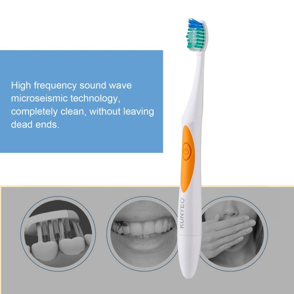 Hot sale Electric Toothbrush Ultrasonic Eectric Tooth Brush Sonic Toothbrush Adults 3pcs Different Type Heads Nano Extra Soft image