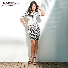 Kaige Nina New Sale Womens Summer Elegant Tartan O Neck Tunic Wear To Work Business Casual