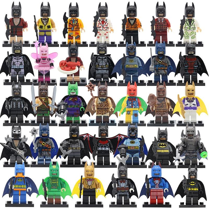POGO Super Hero Single Sale Color Batman Series Building Blocks Sets Model Clown Educational font b