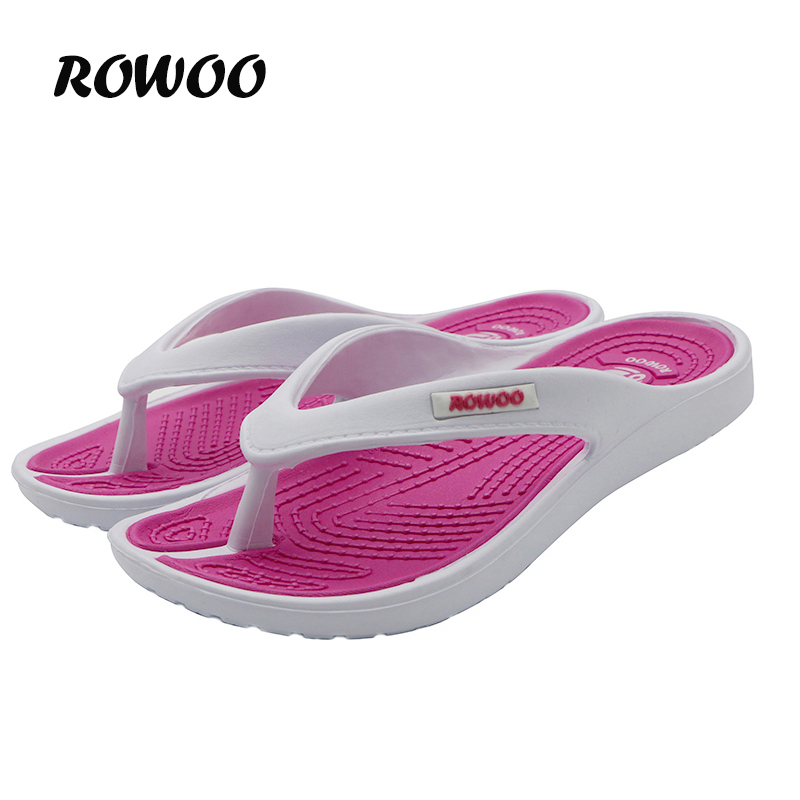 Casual Beach Women Slippersandaler Brand New Design Sommarhem Massage Flat Flip-Flops Skor för Kvinnor plus Storlek