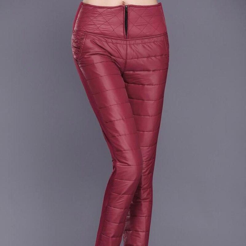 2018 Winter Hose Frauen Hosen Hohe Taille Warme Formale Dünne Unten Baumwolle Hosen Weibliche Schwarze Elastische Taille Casual Arbeit Hosen 6XL