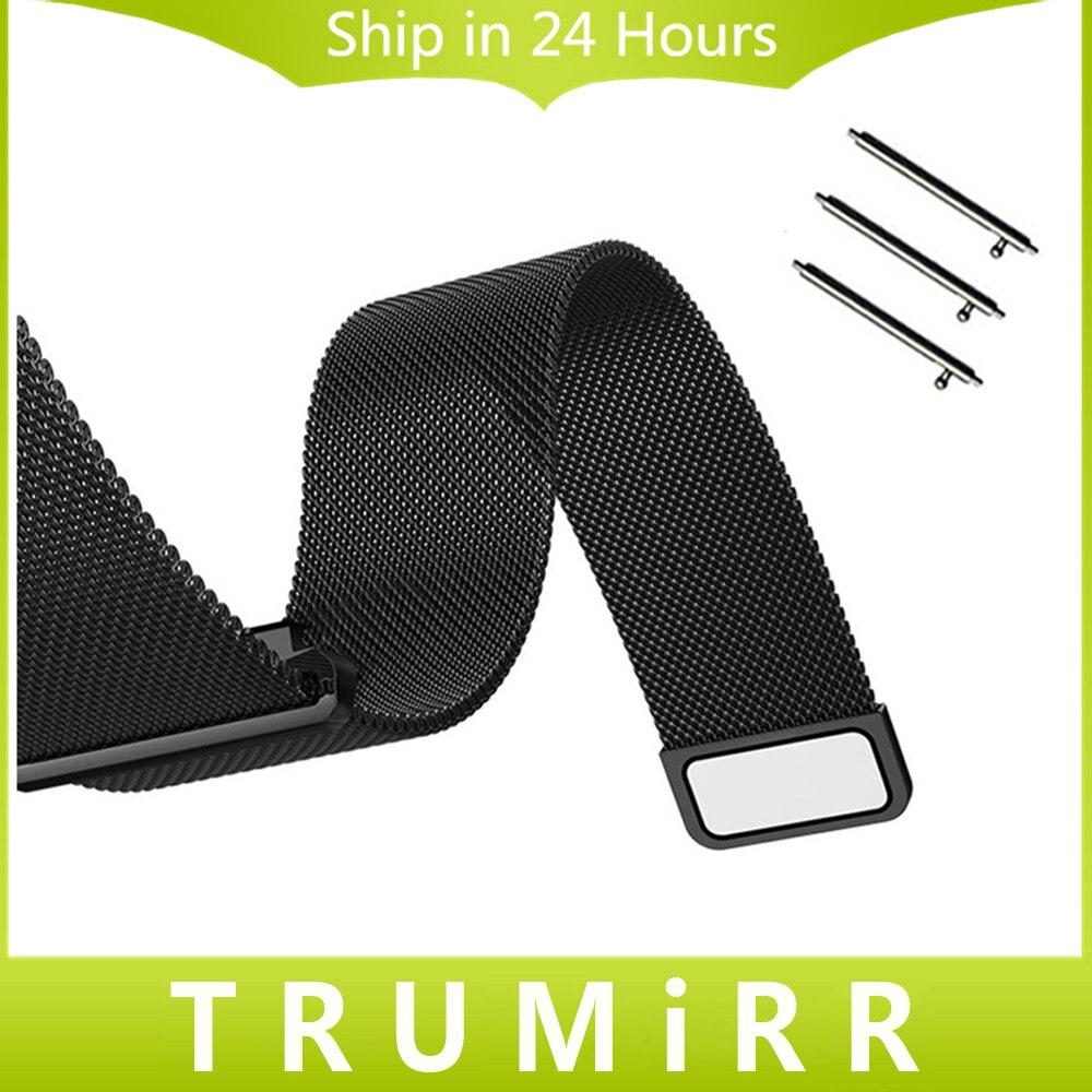20mm 22mm Milanese Boucle Bracelet Magnétique Bracelet pour Amazfit Huami Xiaomi Bip PEU RYTHME Lite Montre Bande Inoxydable Ceinture en acier