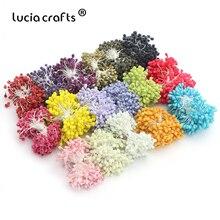 Lucia crafts 5 мм разноцветные варианты стеклянные цветочные тычинки для цветов украшения торта diy пестик тычинка 70 шт./лот D0601