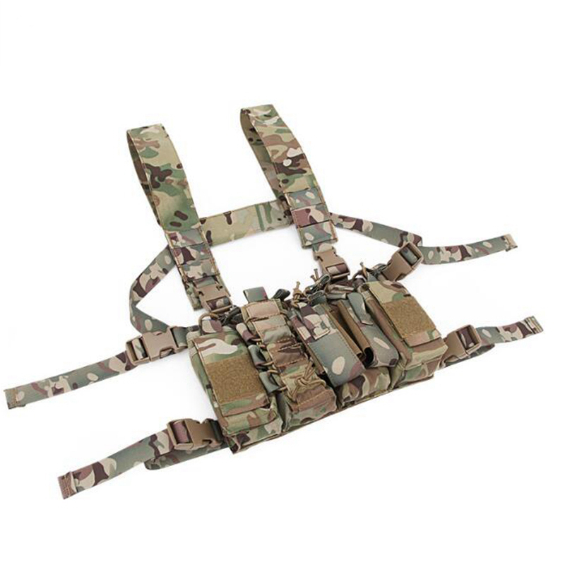 New Outdoor Tactical Chest Rig Airsoft Hunting Vest Molle Pouch Simple Military Tactical Vest with Magazine Pouch emersongear lbt1961k tactical chest rig molle vest with 7 62 magazine pouch military hunting vest multicam combat vest em2978
