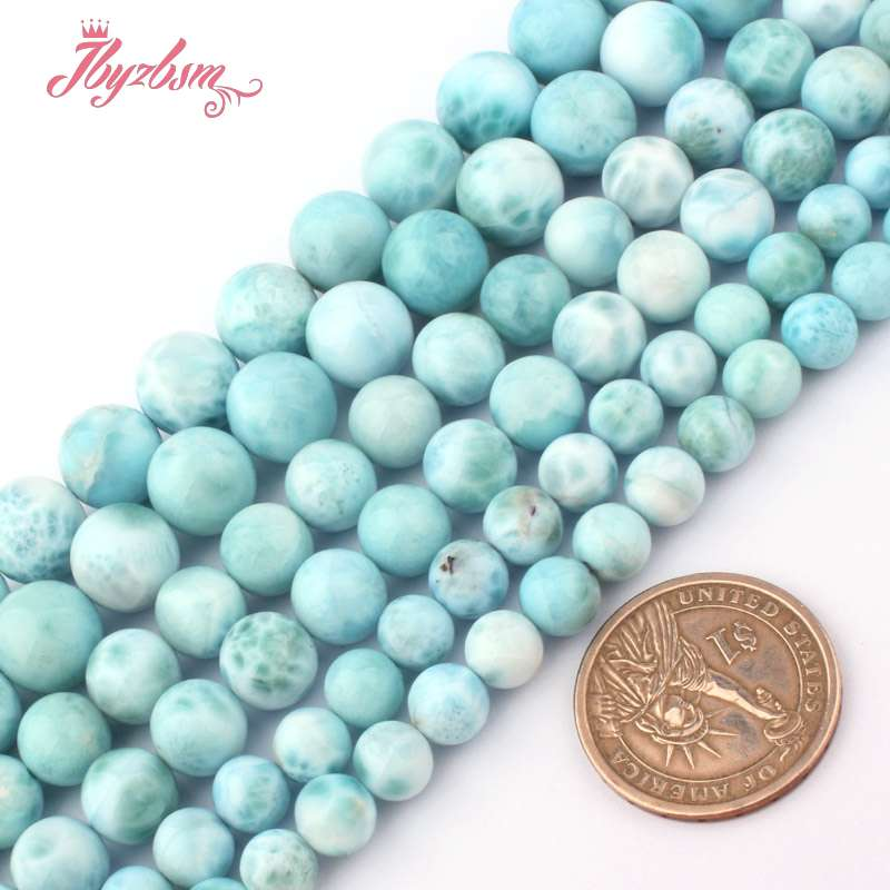 d5188ea21 6 12mm Grade AAA Smooth Round Blue Larimar Beads Natural Stone Beads For  DIY Necklace Bracelets Jewelry Making 15