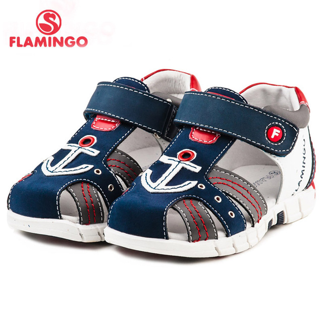 FLAMINGO famous brand 2018 New Arrival Spring & Summer Kids Fashion High Quality sandals for boys 61-XS167