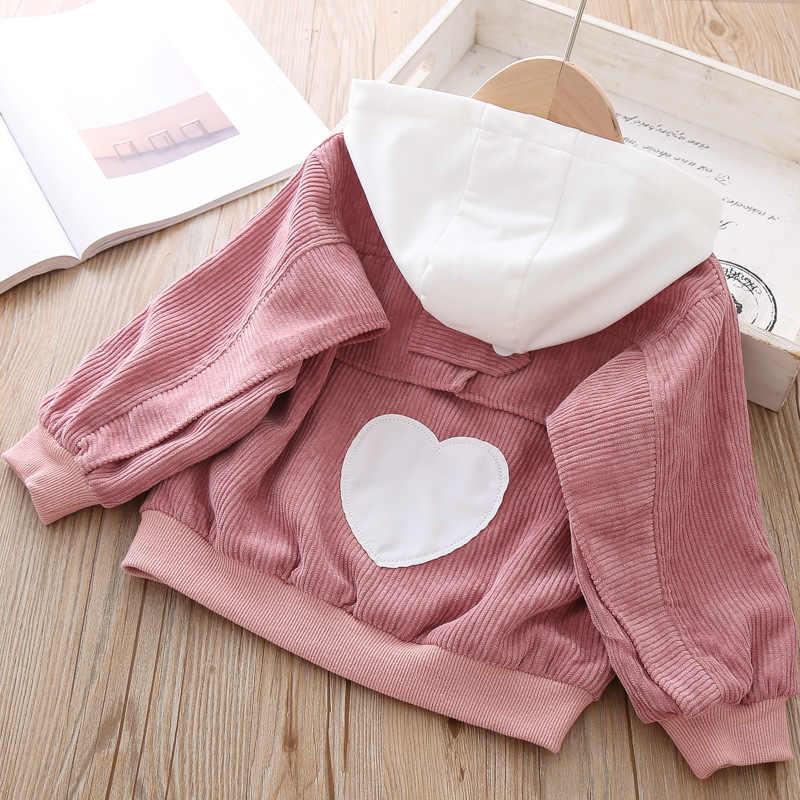 תינוק Autum מעיל קוריאני אופנה הסווטשרט חמוד בנות הלבשה עליונה ילדי מעיל ילדי אביב מעיל לילדה 6 שנים תלבושות בגדים