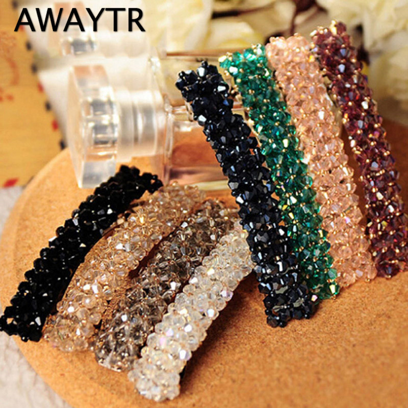 2017 Fashion Hairpins for Hair Women Girls Bling Headwear Crystal Rhinestone Barrette Hairpin Hair Clip Accessories pf leaf shape hairpins crystal cute headwear alloy hair clips barrette women girls headdress spring clip hair accessories ts1160